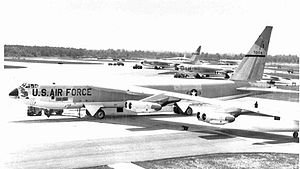 492d Bombardment Squadron - Boeing B-52F Stratofortress 57-0174 at Columbus AFB, Mississippi, 1962