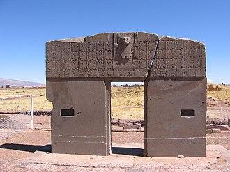 Tourism in Bolivia - Gate of the Sun, Tiwanaku