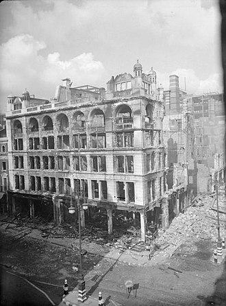 John Lewis & Partners - John Lewis Oxford Street store damaged during The Blitz, 1940