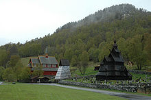 Borgund Stave Church And The Neighbouring Borgund Church