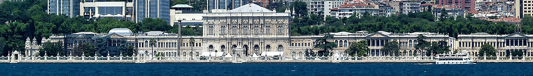Dolmabahçe Palace as seen from the Bosphorus