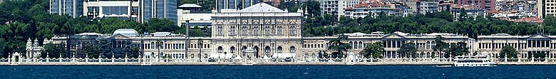 Bosphorus (Istanbul) banner Dolmabahce Palace.jpg