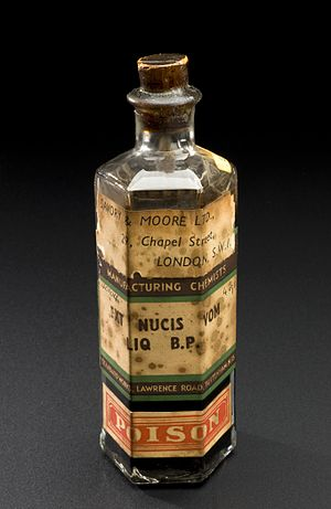 Forensic chemistry - Image: Bottle of extract of nux vomica, London, England, 1794 1930 Wellcome L0058630