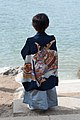 Boy preparing for Shinto ceremony (38327496471).jpg