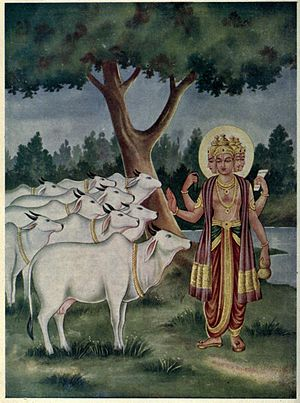Anushasana Parva - Chapters 75 to 83 of Anushasana parva describe the value and wealth cows represent, their upkeep and protection.