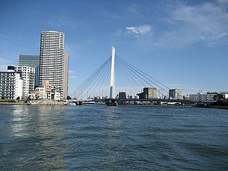 Sumida River - Chuo ohashi, one of the many bridges over the Sumida