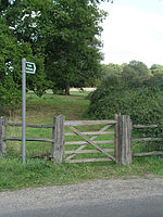 Bridleway 1358 from Haven Road. Next to the entrance to Gemsbrook Farm.