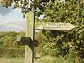 Bridleway signpost - geograph.org.uk - 1013557.jpg