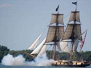 South Bass Island - Image: Brig Niagara cannons