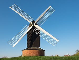 Post mill - Brill windmill, a 17th century post mill in Buckinghamshire