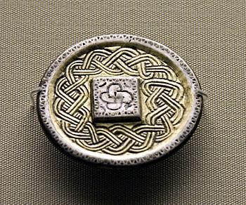Merovingian brooch now in the British Museum. ...