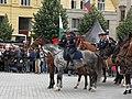 Brno, náměstí Svobody - mezinárodní policejní mistrovství ČR v jízdě na koni - příjezd a defilé soutěžních ekvip obr14.jpg