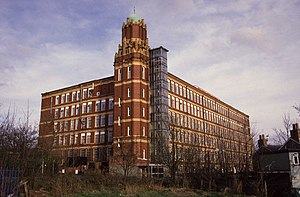 Stott and Sons - Broadstone Mill shows all the design features of a typical Edwardian Stott and Son mill.