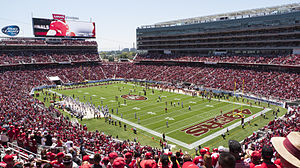 Sports in California - Levi's Stadium, home of the San Francisco 49ers football team