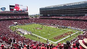 Broncos vs 49ers preseason game at Levi's Stadium