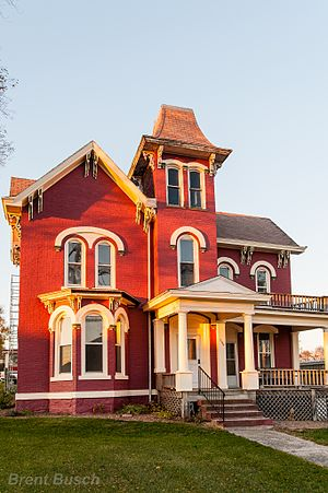National Register of Historic Places listings in Poweshiek County, Iowa - Image: Brooklyn Hotel, Brooklyn, Iowa