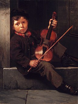 Brooklyn Museum - The Boy Violinist - John George Brown - overall