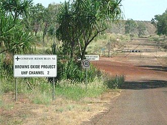 Rum Jungle, Northern Territory - Browns Oxide Project entry gate
