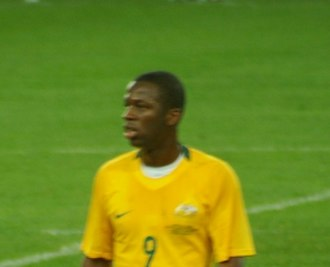 Bruce Djite - Bruce Djite playing for the Australia national football team.