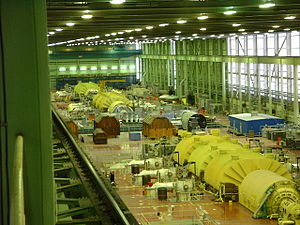 Bruce Nuclear Generating Station - Bruce A Turbine Hall during the 2002-04 restart project