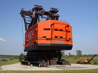 Power shovel - Big Brutus, which is now preserved as a museum.