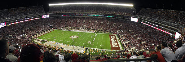 The Interior Of Bryant Denny Stadium South End Zone Left During A 2017 Alabama Versus Tennessee