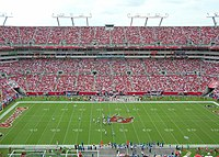 Against the Jacksonville Jaguars at Raymond James Stadium