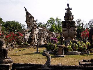 Buddha Park sculpture garden in Laos