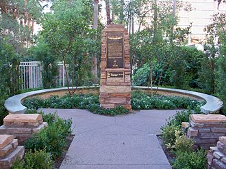 Bugsy Siegel - Siegel's memorial outside the wedding chapel at the Flamingo.