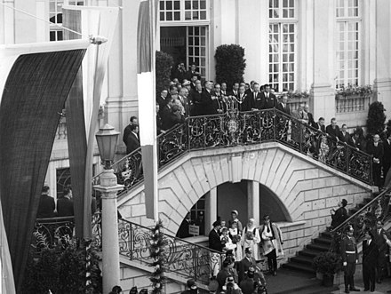 French president Charles de Gaulle on state visit to Bonn (1962), the capital of West Germany until German reunification.