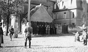 Summary execution - Polish people being executed by a German firing squad in Kórnik, October 1939
