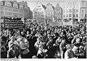 Demonstrations in Strauben on 18 November 1988