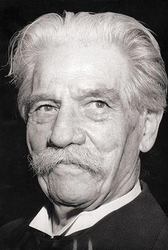 Albert Schweitzer - Schweitzer in 1955
