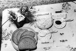 History of Germany (1945–90) - The average daily food ration in the UK occupation zone (1948)