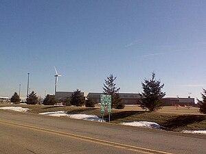 Bureau Valley High School - New Wind Turbine Behind School
