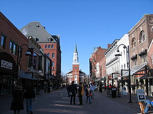 Chittenden County, Vermont - The Church Street Marketplace in downtown Burlington