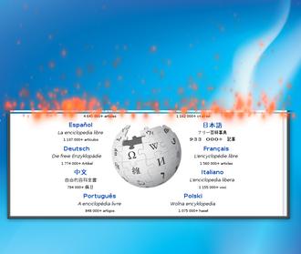 Compiz - Image: Burn effect