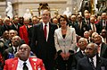Bush and Pelosi at Tuskegee Airmen ceremony.jpg