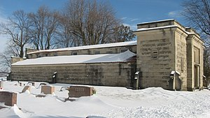 Stafford Township, DeKalb County, Indiana - The Butler Community Mausoleum in the township's northwest