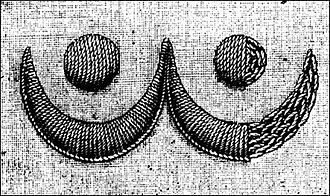 Buttonhole stitch - Raised buttonhole scallops, from Isabella Beeton's Beeton's Book of Needlework