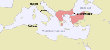 Byzantine Empire 1270 (including the vassal states)