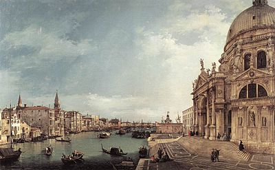 CANALETTO - Entrance to the Grand Canal; Looking East (1744).jpg