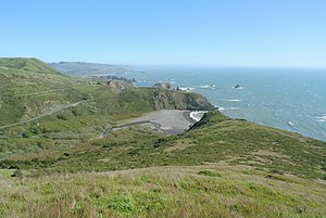 California coastal prairie - Coastal prairie in the Sonoma Coast State Park north of Jenner