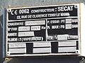 CFBS - Plaque de constructeur de la nouvelle chaudière de la 030T Pinguely.JPG