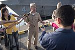 CNO holds a media availability after meeting with the crew of USS Coronado. (33854642744).jpg