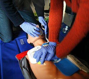 English: CPR training