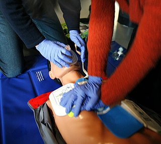Cardiopulmonary resuscitation emergency procedure that combines chest compressions often with artificial ventilation in an effort to manually preserve intact brain function