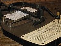 霍列瑞斯式的打孔机(pantograph)
