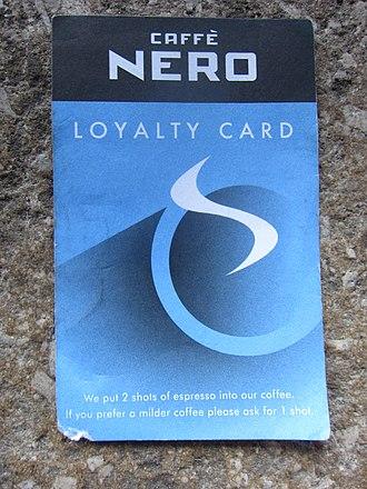 Caffè Nero - Image: Caffé Nero loyalty card