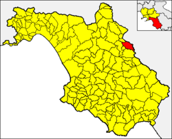 Caggiano within the Province of Salerno